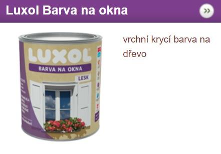 Luxol barva na okna